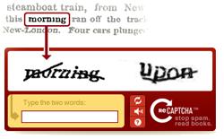 reCAPTCHA in action
