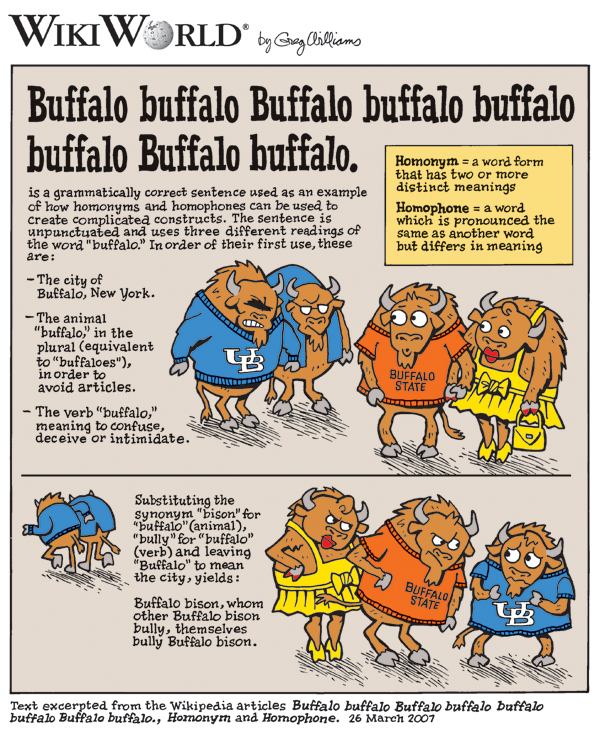 8 buffalos and the English language