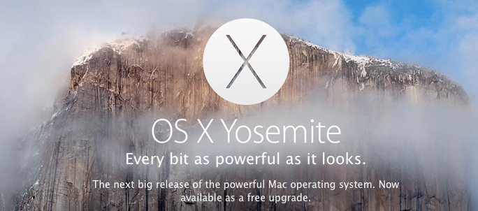 Yosemite ad as it appears in the App Store